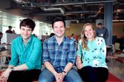 Vizeum: strategy team includes (from left) Charlie Ebdy, Alastair Baker and Anna Palmer