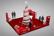 Vodafone unveils Christmas tree with digital effects to bring rewards scheme to life