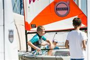 Located in Yacht Haven, Volvo's activities included an RS Sailing simulator