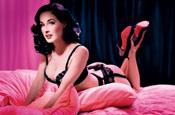 Burlesque star Dita Von Teese in Wonderbra ad