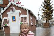 Aldi's giant 'gingerbread' house in Manchester city centre