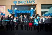 The Manchester Barclays store launch feature the Premier League trophy and entertainment