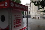 Beating Bowel Cancer's giant loo roll landed in London last week