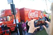 Residents of Ayr in Scotland visiting Coca-Cola's Christmas truck