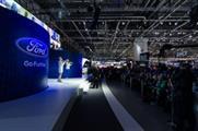 Musicians play in virtual orchestra at Geneva Motor Show
