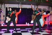 A Lindy Hop dance act at Mistletoe 2013
