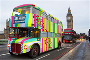 7up Free's London bus takeover stunt
