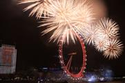 The 2013/14 new year's eve fireworks display in London