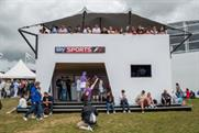 Sky's two-storey structure at Goodwood catered for motoring enthusiasts