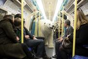 The 'polar bear' on a London Underground train today