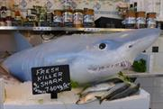 Syfy's animatronic shark gave shoppers a shock this week