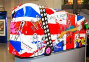 One of TfL's bus sculptures called Punk'ed, created by Valerie Osment