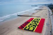 Three's Spanish parasol flag stunt took place this week