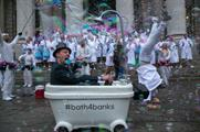 Engine-powered bathtubs created by TransferWise caused a stir in London yesterday