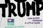 Pick of the week: Women's Equality Party 'thanks' Trump in protest campaign