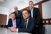(From left) Davis, Daneta, King and Georgiadis: will launch a network, code-named Blue, next year