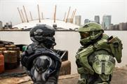 Master Chief and Agent Locke landed outside London's The O2
