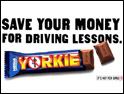 Yorkie: 'sexist' ad