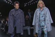 Male models: Giving the Valentino crowd a heady dose of blue steel