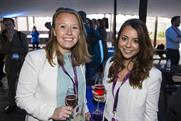 Drinks and canapes were served on the terrace after the day's event