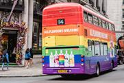 Absolut wraps London buses in rainbow print for LGBTQ support