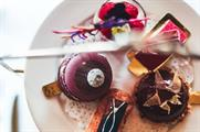 The afternoon tea reflects the collection's jewel tones