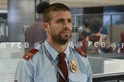 Gerard Piqué as a customs officer in the Qatar Airways ad