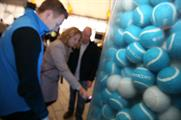 Barclays customers can pick up a special blue ball to gain access to rewards