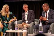 (L-R) Nicola Kemp | Tim Davie | Tunde Ogungbesan