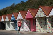 The beach huts feature Cath Kidston's signature prints