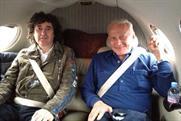 High flyers: Trevor Beattie with former man on the moon Buzz Aldrin