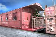 Benefit to create pink train carriage for last-minute brow treatments