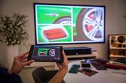Guests can customise their car via the projection