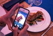 Diners pay for dinner with an Instagram upload
