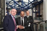 LDC's CEO Martin Draper, NEC Group's CEO Paul Thandi and LDC's director Steve Aston