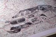 BMW: using hand-drawn map illustrations to bring its new 4x4 to life