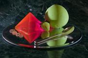 Bompass & Parr's frozen sorrel yoghurt sphere (credit Ann Charlott Ommedal)