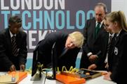 Johnson: fascinated by technology at the launch event