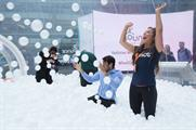 Summer activity included an adult-sized ball pit at Canary Wharf