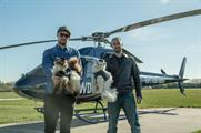 Brewdog founders James Watt and Martin Dickie airdropped taxidermy cats yesterday (12 May)