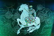Illustrator Marcos Chin created an illuminated animation of character Brienne of Tarth
