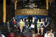 The first heat of Beat the Brief took place at Cafe de Paris