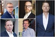 Departure of agency CEOs: clockwise, from top-left: Ben Fennell, Leo Rayman, Dale Gall, Charlie Rudd and Paul Lawson
