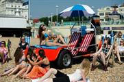 The creation drew crowds on Brighton Beach