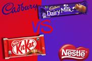 Nestle: attempting to trademark four-finger chocolate bar after Cadbury opposed