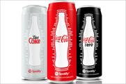 Coca-Cola: latest slim cans carry Spotify branding