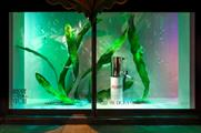 Beauty and fitness brands have taken over the store's windows