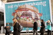 Why Deliveroo created an edible billboard of burgers