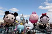 Tsum Tsum characters travelled past London landmarks yesterday (3 June)