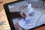 Disney brings characters to life with 3D augmented reality colouring book